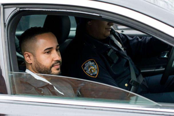PHOTO: New York Police Department Lt. Jose Gautreaux, who was shot in the arm by a gunman who opened fire in a police precinct in the Bronx, is released from Lincoln Hospital, Feb. 10, 2020, in New York. (Eduardo Munoz Alvarez/AP)