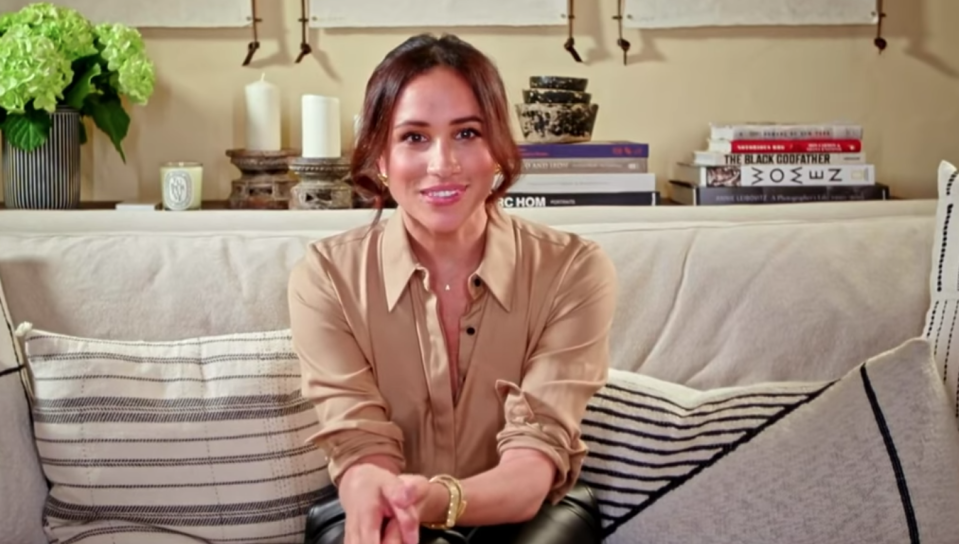 "Meghan, Duchess of Sussex surprised ""America's Got Talent"" viewers with a special message. Image via AGT/YouTube."