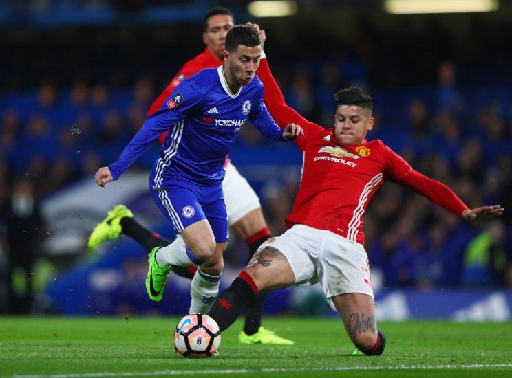 Eden Hazard led Chelsea to FA Cup victory over Manchester United when the two sides met at Stamford Bridge