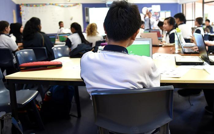 Aussie schoolchildren are falling behind the rest of the world. Picture: AAP