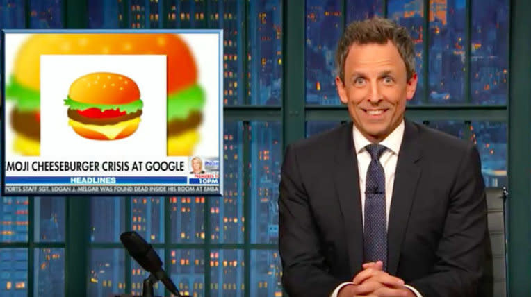 Seth Meyers Ruthlessly Mocks Fox News For Covering Emojis Over Manafort Charges