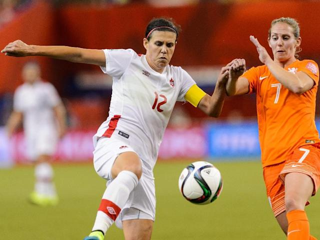 Christine Sinclair is closing in on 300 appearances for Canada (AFP Photo/Minas Panagiotakis)