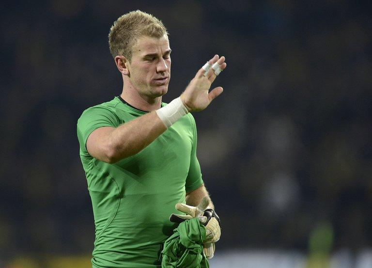 Manchester City keeper Joe Hart made a series of great saves to keep the scoreline respectable