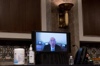 Former Sergeant at Arms Paul Irving testifies via teleconference before a Senate Homeland Security and Governmental Affairs & Senate Rules and Administration joint hearing on Capitol Hill, Washington, Tuesday, Feb. 23, 2021, to examine the January 6th attack on the Capitol. (AP Photo/Andrew Harnik, Pool)
