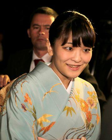 FILE PHOTO - Japan's Princess Mako arrives before a meeting with Paraguay's President Horacio Cartes at the presidential residence in Asuncion, Paraguay September 8, 2016. REUTERS/Jorge Adorno/File Photo