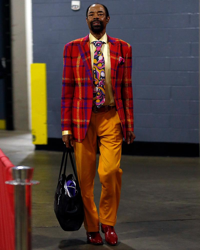 Clyde Frazier knows that, if you dress with sufficient energy, there's no such thing as clashing.