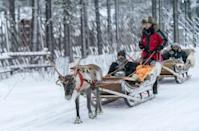 This year, visits to Finland's popular Santa Claus-themed amusement park have plummeted