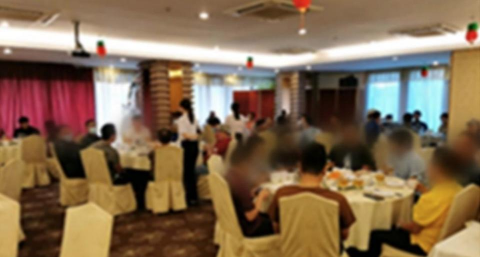 Ah Yat Seafood Restaurant at Turf City was ordered to close for 10 days due to breaches of safe management measures. (PHOTO: Ministry of Sustainability and the Environment)