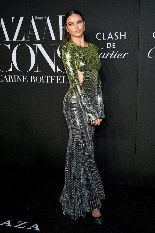 Adriana Lima at Harper's Bazaar Icons Party 2019