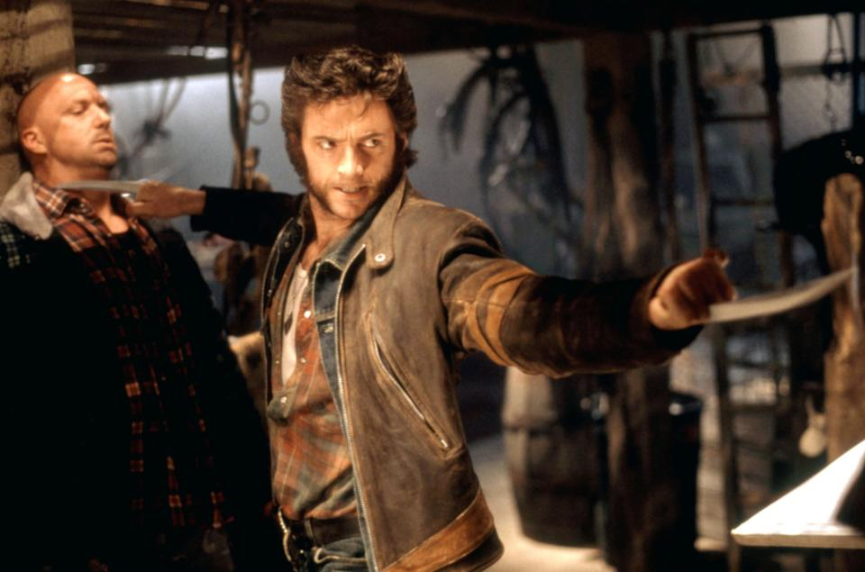 Hugh Jackman unleashes Wolverine's claws for the first time in 2000′s X-Men (Photo:  20th Century Fox Film Corp. All rights reserved. Courtesy: Everett Collection)