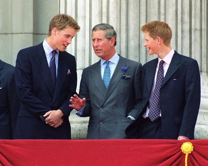Harry, William, and Charles 2000