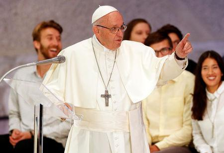 Pope blames devil for Church divisions, scandals, seeks angel's help