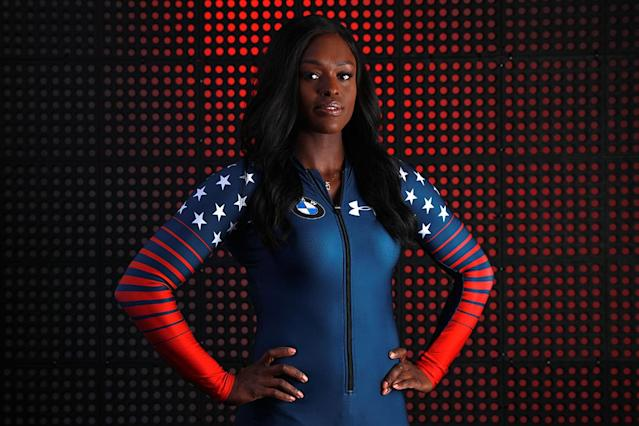 Bobsledder Aja Evans poses for a portrait during the Team USA Media Summit ahead of the PyeongChang 2018 Olympic Winter Games on September 25, 2017 in Park City, Utah. (Photo by Tom Pennington/Getty Images)
