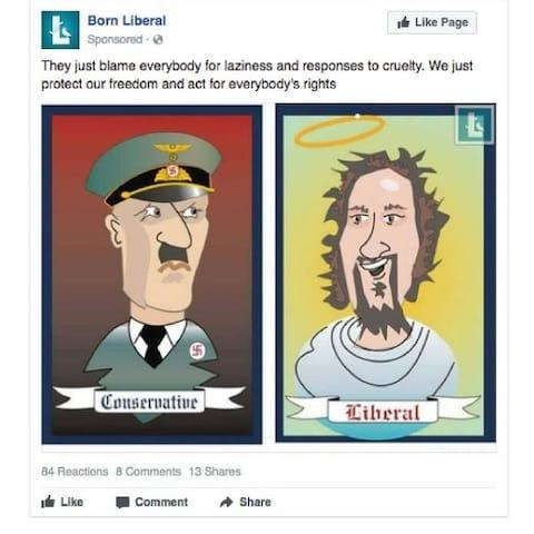 """The entire cache of Russian-bought Facebook adverts, whichwere intended to distort voters' political views ahead of the US election, have finally been released to the public. The collection of memes and cartoons were promoted on Facebook in return for a fee as part of an aggressive, two-year campaign by Russia's Internet Research Agency (IRA). The files, which were published on Thursday by the House of RepresentativesPermanent Select Committee, include explicit condemnations of Republican and Democratic policies. It includesfrequentreferralsto Hillary Clinton as a """"criminal"""", emotive anti-police rhetoric and calls for black lives matter protests. Among the sensitive and politicised posts, there were severalseemingly inoffensive memes and jokes - the kind often shared on the social network - whichmay have been a ploy to getFacebook usersliking and sharing pages that would later publish propaganda, ultimately increasing its visibility. A total of 3,393 adverts bought between May 2015 to June 2017 were viewed by more than 11.4 million Americans. They ranged from anti-police messages masquerading as black lives matter protest material to anti-Hillary Clinton memes. One promoted page shared doctored images promoting greater border control, a policy promoted by Donald Trump. The Internet Research Agency specified that it was seen by people who had an interest in Immigration, racism and excluded those already interested in secured borders One example includesa doctored image of fires burning on the US and Mexico border with the road sign """"invaders not allowed"""" along with a police badge. The text on top of the sponsored post, reads: """"Secured borders should be a top priority. We need to protect Americanow more than ever"""". The IRA specified that the post was promoted topeople who would agree with its content and showed interest in the following categories:""""United States, Conservatism, Deportation, Stop Illegal Immigration, Julian Assange, Laura Ingraham, Ron Paul, National id"""