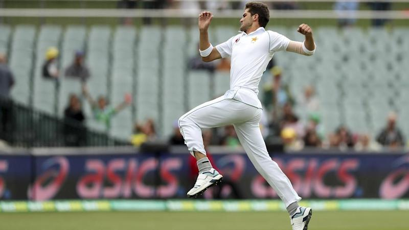Pakistan's Shaheen Shah Afridi claimed the first wicket of the second Test against Australia