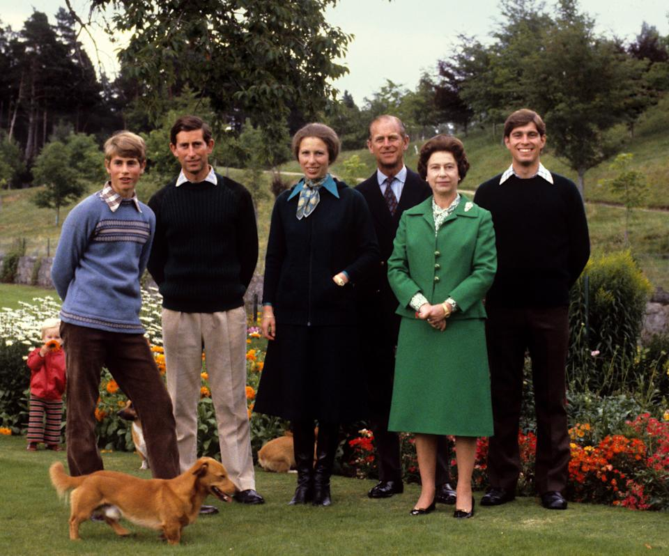 Queen Elizabeth II with the Duke of Edinburgh and their children Prince Edward, Prince Charles, Princess Anne, and Prince Andrew, at Balmoral Prince Philip dies