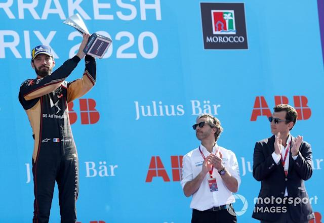 "Podio: tercer lugar Jean-Eric Vergne, DS Techeetah <span class=""copyright"">Alastair Staley / Motorsport Images</span>"