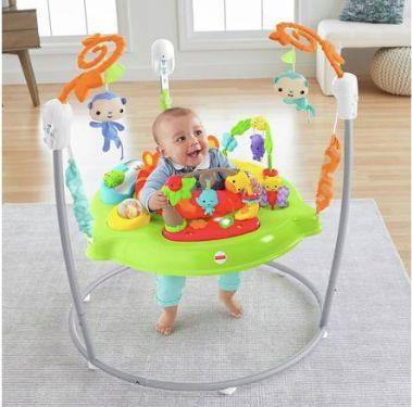 """<a href=""""https://fave.co/2shfhoa"""" target=""""_blank"""" rel=""""noopener noreferrer"""">Fisher-Price Roarin&rsquo; Rainforest Jumperoo, Argos</a>, &pound;80 (Photo: Fisher-Price/Argos)"""