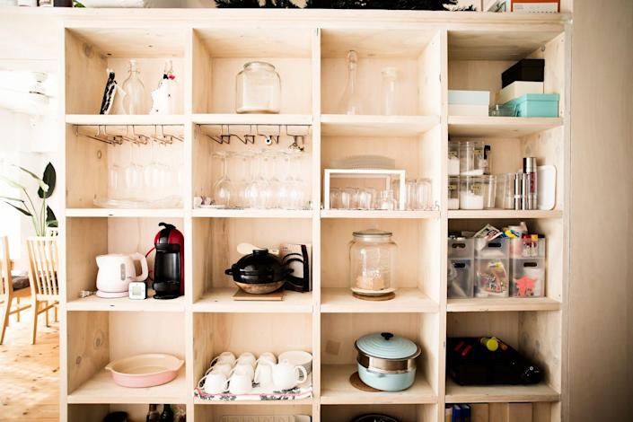 """<p>""""Do you ever lose forks and spoons? No! Because they have a home in the silverware drawer,"""" Kirsten Fisher, certified professional organizer and founder of <a href=""""https://www.instagram.com/imaginehomeorganization/"""" rel=""""nofollow noopener"""" target=""""_blank"""" data-ylk=""""slk:Imagine Home Organization"""" class=""""link rapid-noclick-resp"""">Imagine Home Organization</a>, tells us. """"Use this same method and store like categories of things together in a defined place."""" Every time you use an item, put it back where it was. After a while, it will become a habit you won't even think about. </p>"""