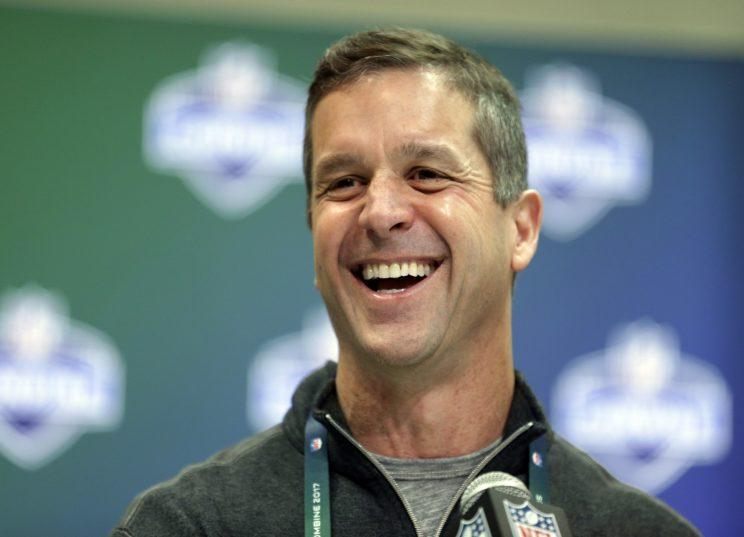 John Harbaugh's Ravens have missed the playoffs three of the past four seasons. (AP)