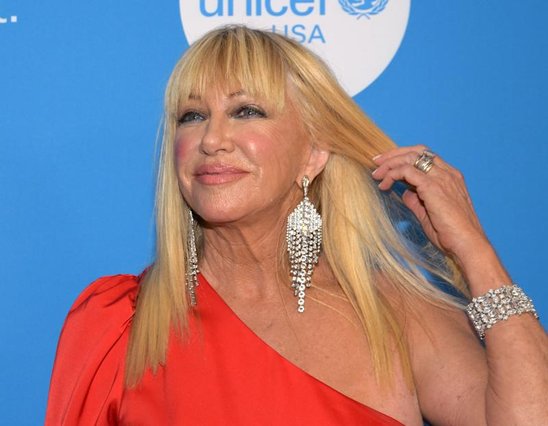 Suzanne Somers attends the 7th Biennial UNICEF Ball at The Beverly Wilshire Hotel on April 14, 2018 in Beverly Hills, California. / AFP PHOTO / TARA ZIEMBA (Photo credit should read TARA ZIEMBA/AFP/Getty Images)