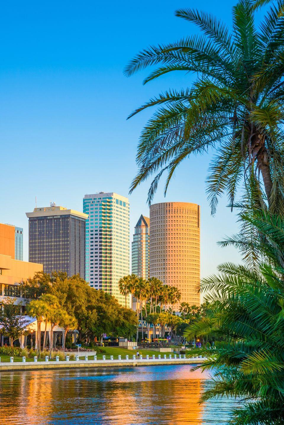 """<p><strong>$253,596</strong></p><p>""""Tampa was forecasted to be the fourth hottest market of 2021 by a panel of economic experts surveyed by Zillow,"""" says Pendleton, explaining that the average home value has leapt by 11.4 percent this past year alone.</p>"""