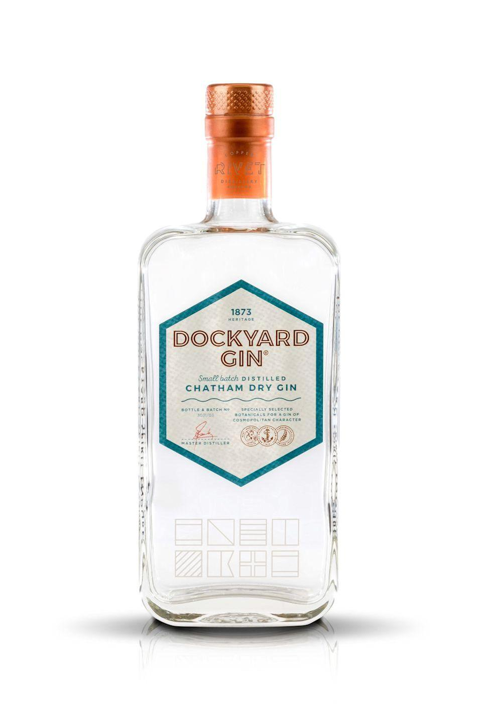 """<p>This small-batch distiller in Chatham Dockyard might sound quintessentially English, but its signature gin, <a href=""""https://www.copperrivetdistillery.com/product/dockyard-gin/"""" rel=""""nofollow noopener"""" target=""""_blank"""" data-ylk=""""slk:Dockyard"""" class=""""link rapid-noclick-resp"""">Dockyard</a>, includes Italian juniper berries, Bulgarian coriander seeds, Spanish orange peel, Guatemalan green cardamom and grains of paradise from Africa. All this combined creates a strong and distinct taste that is truly international, with the subtle sent of fruit lingering in the aftertaste. </p><p>Pair with <a href=""""https://www.merchantsheart.co.uk/collection/pink-peppercorn/#1"""" rel=""""nofollow noopener"""" target=""""_blank"""" data-ylk=""""slk:Merchant's Heart Pink Peppercorn tonic"""" class=""""link rapid-noclick-resp"""">Merchant's Heart Pink Peppercorn tonic</a> for a full-flavour G&T. The pink peppercorn is a gentle spicy kick of an enhancer, that works perfectly with the Dockyard. The soft, slightly bitter note of the pink peppercorn builds the more you sip, taking you on a journey through your drink.</p>"""