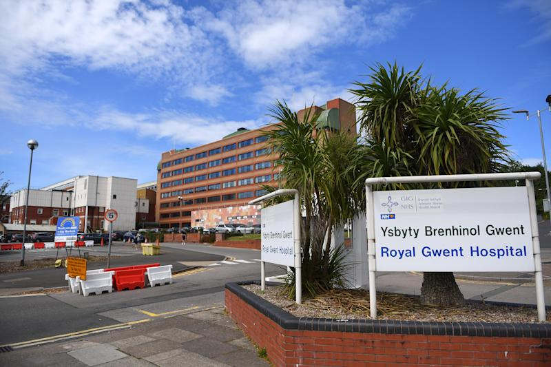 Pictured is the front of Royal Gwent Hospital in Newport, South Wales. Source: Wales News Service/Australscope