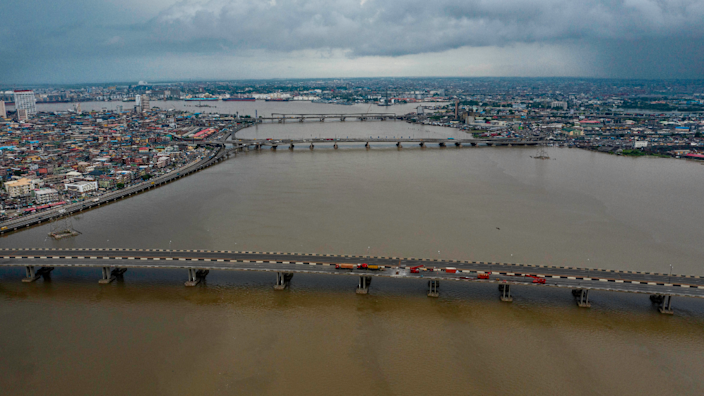 The bridges connecting the Lagos mainland to the islands