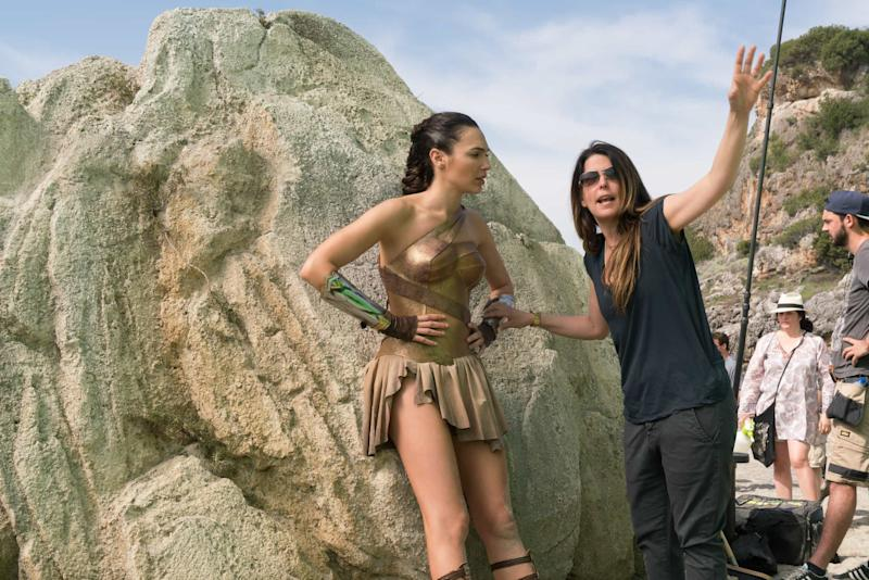 Patty Jenkins directing Gal Gadot on the set of 'Wonder Woman' (credit: Warner Bros)