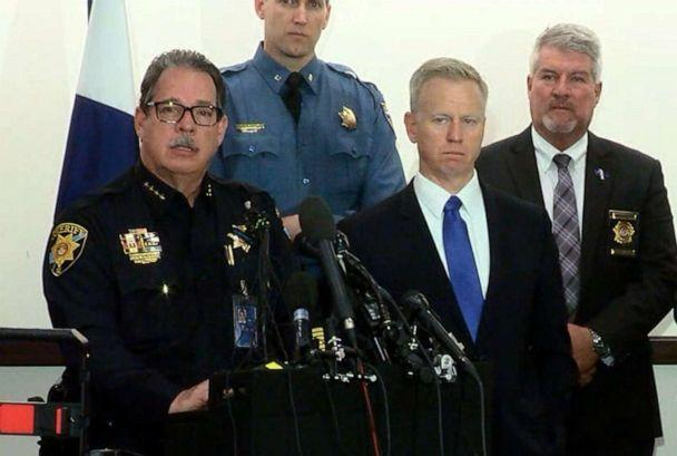 PHOTO: Sheriff Tony Spurlock speaks at a press conference, May 8, 2019, regarding a shooting at the STEM School Highlands Ranch the previous day in Highlands Ranch, Colo. (KMGH)