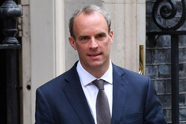 Britain's Foreign Secretary Dominic Raab leaves 10 Downing Street (Photo: JUSTIN TALLIS via Getty Images)