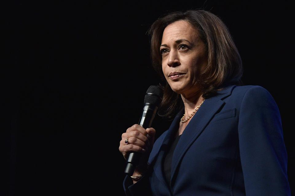 Sen. Kamala Harris (D-Calif.) was named Joe Biden's running mate earlier this week. Birthers are already questioning whether she — the first Black and Asian American woman on a major party's ticket — would be constitutionally eligible to become president. (Photo: David Becker via Getty Images)
