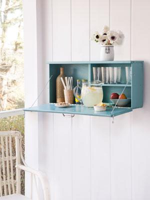 """<div class=""""caption-credit""""> Photo by: Burcu Avsar</div><div class=""""caption-title"""">Upcycled Drink Station</div>Rather than hashing out big bucks for a large bar area, make your own using a cast-off chest of drawers. <br> <br> <a href=""""http://www.countryliving.com/crafts/projects/green-crafts-0309#slide-8?link=emb&dom=yah_life&src=syn&con=blog_countryliving&mag=clg"""" target=""""_blank"""">Get the step-by-step instructions »</a> <br> <b><br> Plus: <br> <a href=""""http://www.countryliving.com/crafts/organization-crafts-0109?link=rel&dom=yah_life&src=syn&con=blog_countryliving&mag=clg"""" target=""""_blank"""">16 Craft Projects to Help Organization »</a> <br> <a href=""""http://www.countryliving.com/homes/decor-ideas/living-room-gallery?link=rel&dom=yah_life&src=syn&con=blog_countryliving&mag=clg"""" target=""""_blank"""">82 Living Rooms You'll Love »</a></b>"""