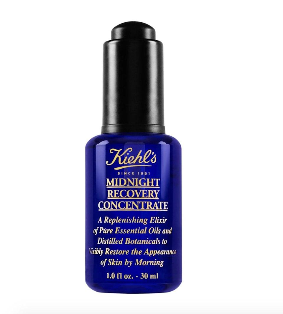 "$78, Nordstrom. <a href=""https://www.nordstrom.com/s/kiehls-since-1851-midnight-recovery-concentrate-face-oil/3088002?origin=category-personalizedsort&breadcrumb=Home%2FSale%2FBeauty&color=none"" rel=""nofollow noopener"" target=""_blank"" data-ylk=""slk:Get it now!"" class=""link rapid-noclick-resp"">Get it now!</a>"