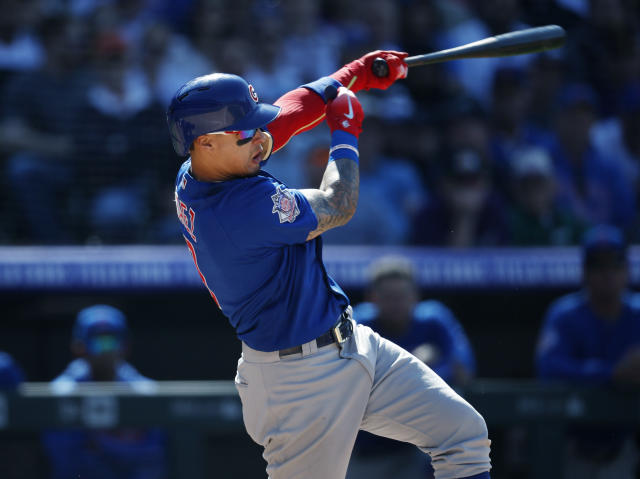 Javier Baez is on fire and a weekend fantasy wrap (AP Photo).