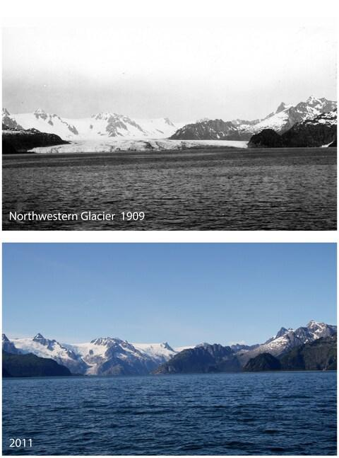 Early photo taken by US Geological Survey, recent photo by the US National Park Service - Credit: Courtesy of NPS