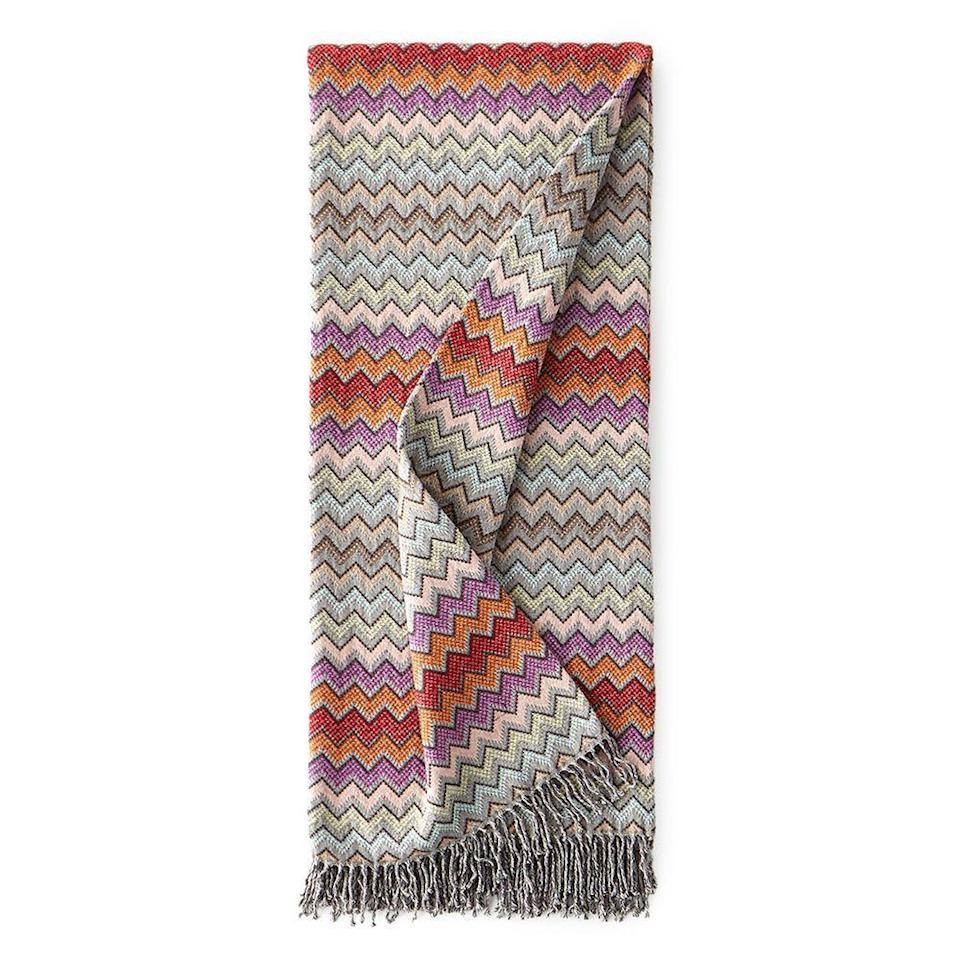 """<p><strong>Missoni Home</strong></p><p>https://www.neimanmarcus.com</p><p><strong>$465.00</strong></p><p><a href=""""https://go.redirectingat.com?id=74968X1596630&url=https%3A%2F%2Fwww.neimanmarcus.com%2Fp%2Fmissoni-home-william-throw-prod221280050&sref=https%3A%2F%2Fwww.elle.com%2Ffashion%2Fshopping%2Fg34419345%2Fbest-throw-blankets%2F"""" rel=""""nofollow noopener"""" target=""""_blank"""" data-ylk=""""slk:Shop Now"""" class=""""link rapid-noclick-resp"""">Shop Now</a></p><p>So you've moved into your big girl apartment. What's next? We think this rainbow-hued Missoni throw blanket. </p>"""