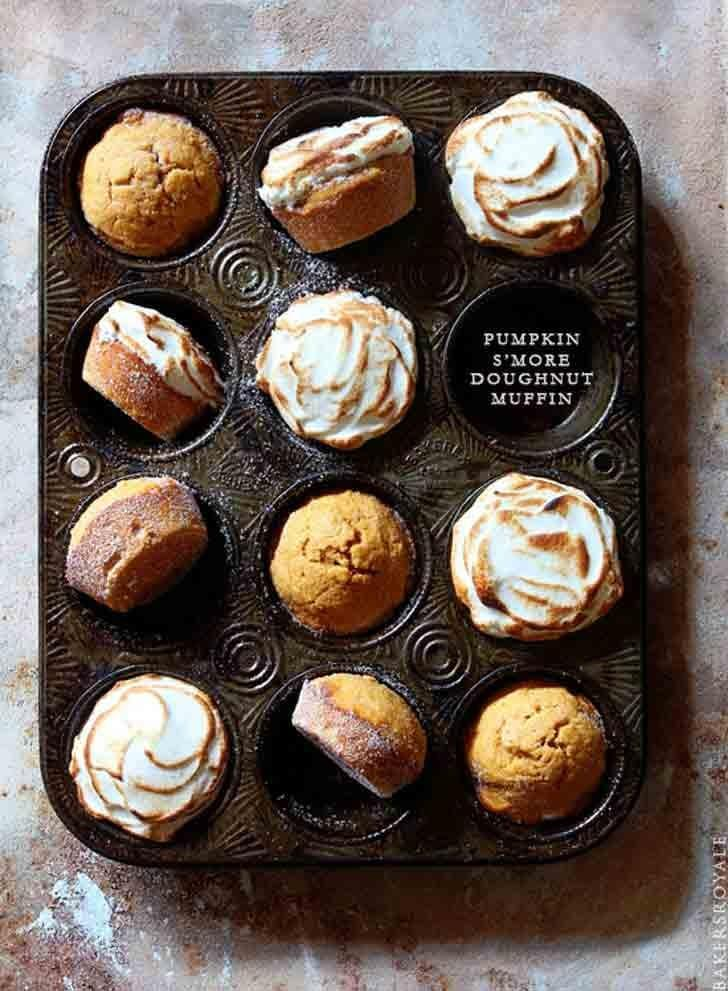 "<p>Waking up's a treat when <a href=""http://www.bakersroyale.com/cakes/pumpkin-smore-doughnut-muffin/"" class=""link rapid-noclick-resp"" rel=""nofollow noopener"" target=""_blank"" data-ylk=""slk:pumpkin s'more doughnut muffins"">pumpkin s'more doughnut muffins</a> are on the menu.</p>"