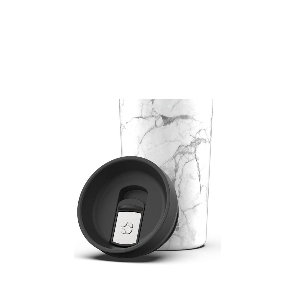 <p>The <span>Ello Jones Vacuum Insulated Stainless Steel Travel Mug</span> ($13) will keep your beverages at the perfect temperature and it's leakproof. It comes three other colors including tortoise shell and black.</p>