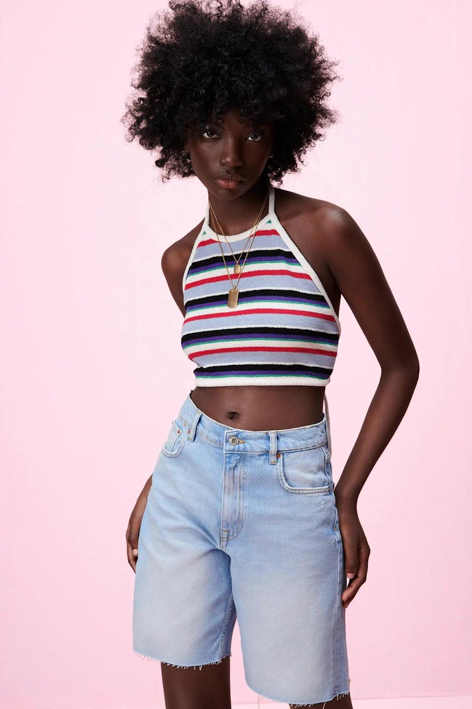 <p>I just want to lay on a beach somewhere in this <span>Jacquard Crop Top</span> ($13).</p>