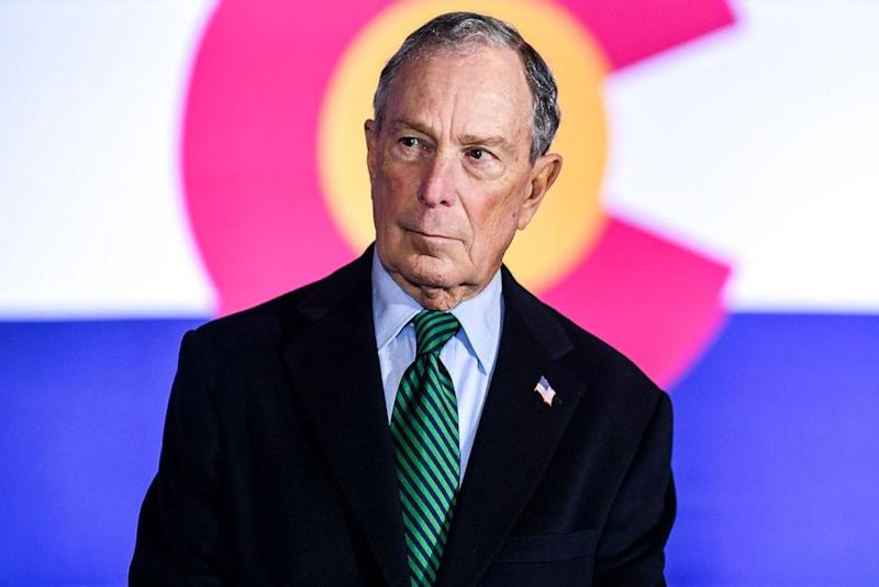 Democratic presidential candidate Michael Bloomberg in early December. | Michael Ciaglo/Getty