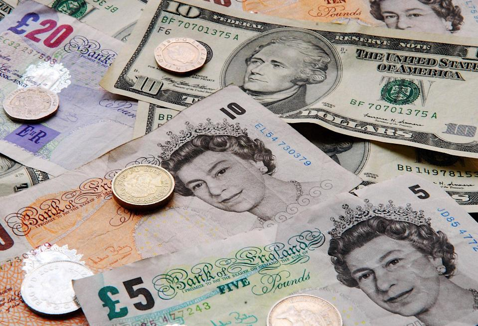 The pound is at an 8-month low  (AFP/Getty Images)