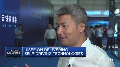 Wu Gansha, co-founder and CEO at UISEE, tells CNBC about why it's better for the self-driving technology start-up to be based in China instead of Silicon Valley.