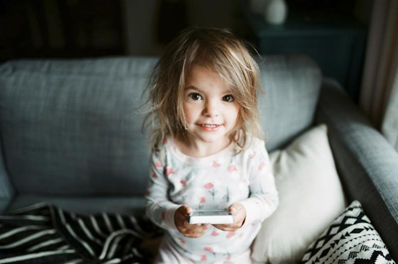 Toddlers: so angelic looking until they lock your phone for decades. Photo: Getty