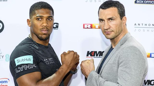 """Wladimir Klitschko could view the big stage of facing Anthony Joshua in front of a huge crowd as his """"exit card"""", Carl Froch says."""