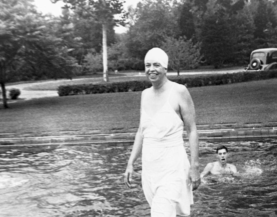 "<p><span class=""redactor-unlink"">Eleanor Roosevelt</span> was the first first lady to be photographed in a bathing suit during her 12-year (!) tenure in the White House from 1933-1945 (four-term offices were once a thing). </p>"