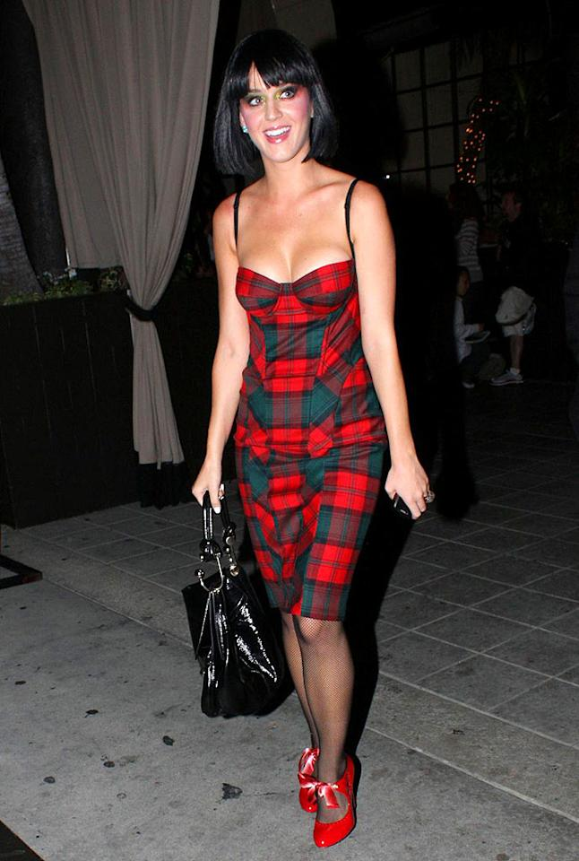 """""""I Kissed A Girl"""" singer Katy Perry loves to make a statement in surprising ensembles! <a href=""""http://www.pacificcoastnews.com/"""" target=""""new"""">PacificCoastNews.com</a> - September 4, 2008"""