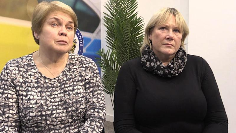 Patricia Welch and Frances Perks (right), speaking before the former breast surgeon was convicted (PA)