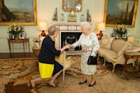 """The Queen's thirteenth prime minister Theresa May will stand down on June 7, 2019. During her resignation speech, she said: """"It is, and will always remain, a matter of deep regret to me that I have not been able to deliver Brexit."""" [Photo: PA]"""